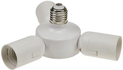 Lampensockel Adapter E27 3 fach Halterung für Foto Studio, Softbox, Lampenschirm weiß
