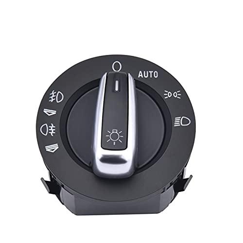 1pc Farlolight Fog Lámpara Control Interruptor Luz Plástico Material Material Durable para Audi A6 S6 C6 RS6 allroad para Q7 4FD941531A 4F1941531E Accesorios de Coche
