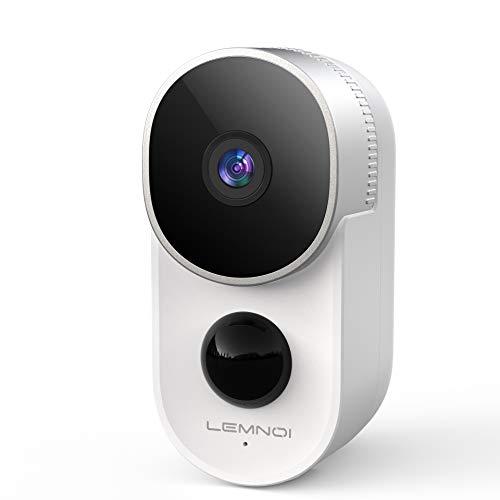 1080P Akku Überwachungskamera WLAN IP Kamera, Lemnoi Batteriebetrieben Kabellos Aussen Wasserdicht Überwachungskamera mit PIR Bewegungsmelder, Nachtsicht, 2-Wege-Audio, Cloud-Speicher, CloudEdge APP
