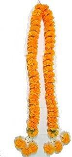 wonderflowers Artificial Yellow Marigold Garland 1.15 meter for Make A Wish