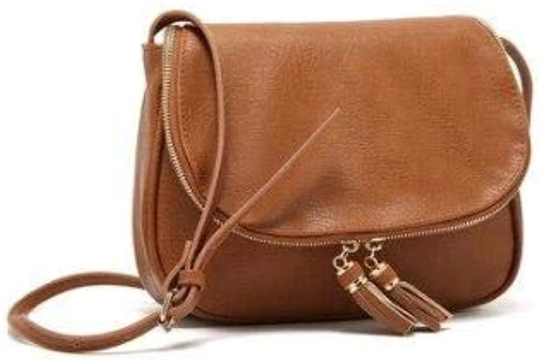 Hot Sale Tassel Women Bag Leather Handbags Cross Body Shoulder Bags Fashion Messenger Bag Women Handbag bolsas Femininas Brown