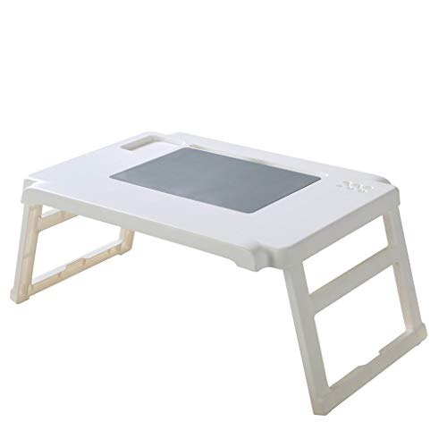 Modern Eenvoud klaptafel Lichtgewicht Portable Folding Picknick Camping Bureau Laptoptafel Lazy Bed Desk (Color : White, Size : A)