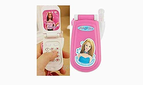 Barbie Musical Toy Mobile Phone for Kids (Pink) - Pack of 2 Pieces