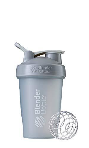 BlenderBottle Classic Loop - Botella Mezcladora de Batidos de proteínas con batidor Blenderball, Gris Claro, 590ml