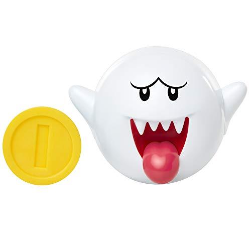 Jakks Pacific World of Nintendo Action Figure Boo with Coin 6 cm Super Mario