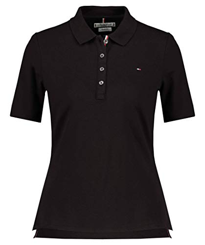 Tommy Hilfiger TH Essential REG Polo SS Camiseta sin Mangas para bebés y niños pequeños, Black, XXL para Mujer