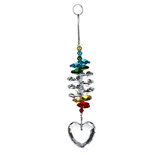 H&D HYALINE & DORA Herz Form Fenster Anhänger Kristall Fengshui Sonnenfänger Regenbogenmacher Kronleuchter Ball Prisma