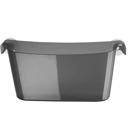 koziol Utensilo Boks, Kunststoff, transparent anthrazit, 10,5 x 35 x 15,8 cm