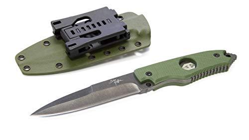Hoffner Knives - Outdoormesser - Klingenlänge: 12.4 cm - Hand Spear Standard Edge Olive