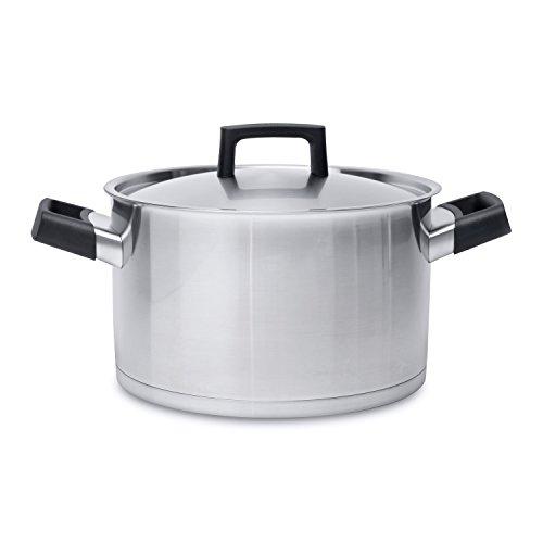 Aluminium Gris//Rouge 20 cm Bialetti Y0C8C20200 Pot