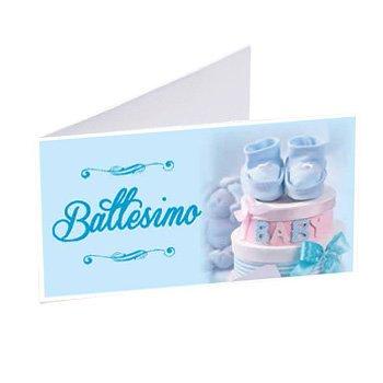 Gicaprice 50 BIGLIETTINI BOMBONIERA Battesimo Bambino Personalizzati