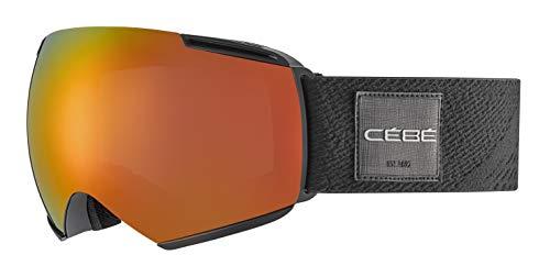 Cébé Icon skibrillen, uniseks, volwassenen, mat black fire, large
