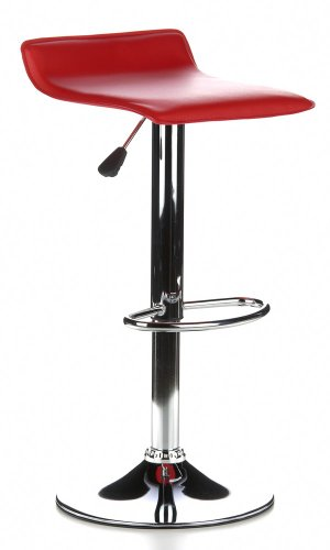 Buerostuhl24 Samba di 2 sgabelli da Bar, 2 sedie, Colore: Rosso