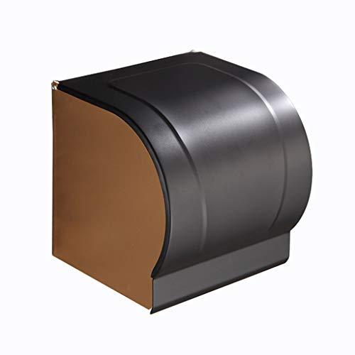 Haute qualité Support de serviette en aluminium imperméable à l'eau Espace de rangement en aluminium fermé Rouleau de papier noir Support de non-cuivre Accessoires de salle de bain