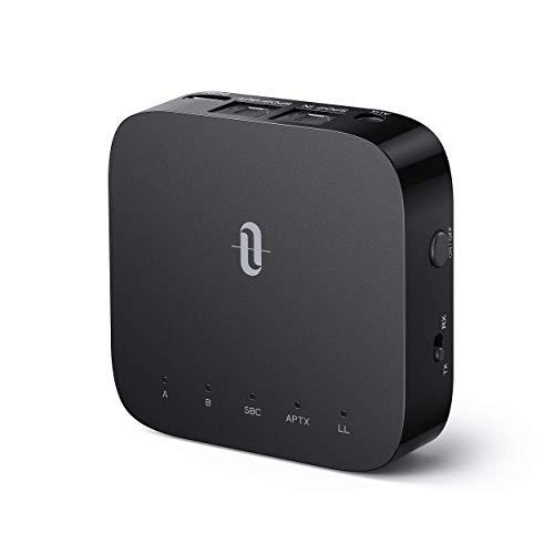 TaoTronics Bluetooth Transmitter Empfänger 2 in 1 Sender Audio 5.0 Receiver aptX Low Latency mit Optischem Toslink/SPDIF für TV Laptop Stereoanlage Kopfhörer Lautsprecher (Generalüberholt)