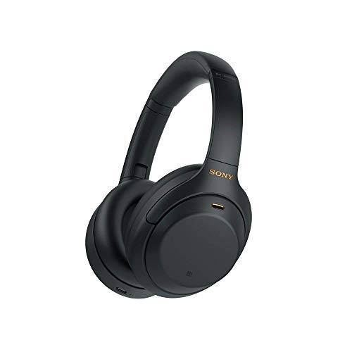 Sony WH-1000XM4 kabellose Bluetooth Noise Cancelling Kopfhörer (30h Akku, Touch Sensor, Headphones Connect App, Schnellladefunktion, optimiert für Amazon Alexa, Headset mit Mikrofon) Schwarz