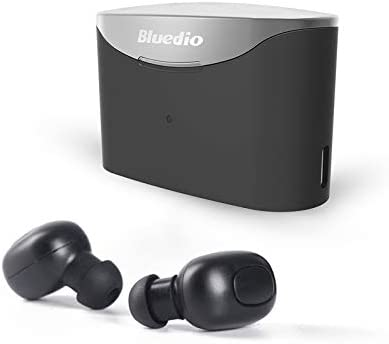 Bluedio U (UFO) PPS 8 Drivers High-End Bluetooth headphones Revolution/3D Sound Effect/Aluminum alloy build/Hi-Fi Rank wireless&wired Over-Ear headsets with carrying hard case Gift-package (Black)