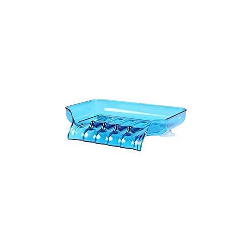 YuKeShop Jabones de plástico para cocina y baño con escurridor, bandeja de almacenamiento para jabones de ducha, soporte al azar
