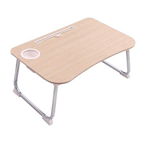 Mesa pequeña sencilla, mesa de estudio de dormitorio for estudiantes, mesa de cama, mesa portátil plegable, mesa de cama móvil, mesa de desayuno portátil - Material ecológico Escritorio de computadora