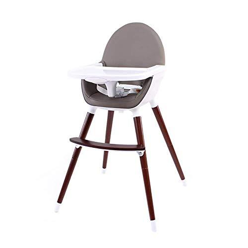 Baby-eetkamerstoel voor kinderen, multifunctionele eetstoel, massief houten kruk Draagbare comfortabele veiligheid hoge en lage dual-use babystoel, stabiel en duurzaam