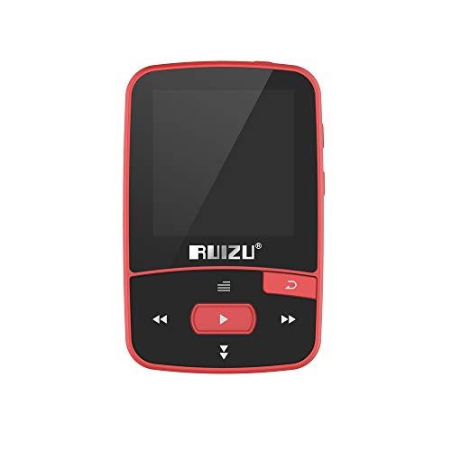 Andoer RUIZU X50 8GB 1.5in MP3 MP4 Player HiFi Lossless Qualidade de som Bluetooth Pedômetro Cartão TF Rádio FM Gravação E-book Calendário