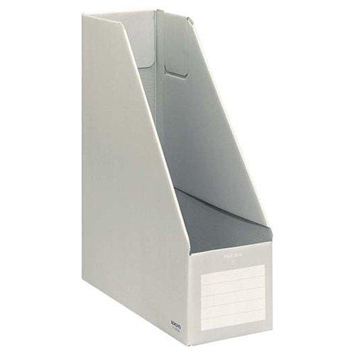 KOKUYO ファイルボックス Sタイプ (ダンボールタイプ) A4判 タテ型 背幅102mm グレー 10冊 フ-E450M