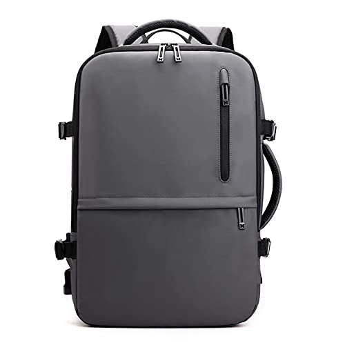 Running-sun Mochila para portátil de 15,6 pulgadas, resistente al agua, con puerto de carga USB y cremallera antiexplosión para hombres