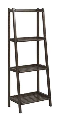 New Ridge Home Goods Dunnsville 4-Tier Ladder Shelf, Espresso