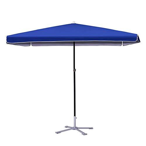 ZDW Sonnenschirme Blau Rechteckige Außenterrasse Markt Stil Regenschirm, Perfekt für Balkon Tischterrasse Garten Deck Hof Schatten oder Pool Side Outdoor Sonnenschirm Tragbarer Sonnenschirm,Blau,220c