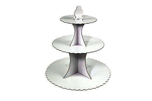 DKB-Tools-Germany Présentoir à gâteaux 3 niveaux Serviteur présentoir à muffins Couleurs assorties Weiß