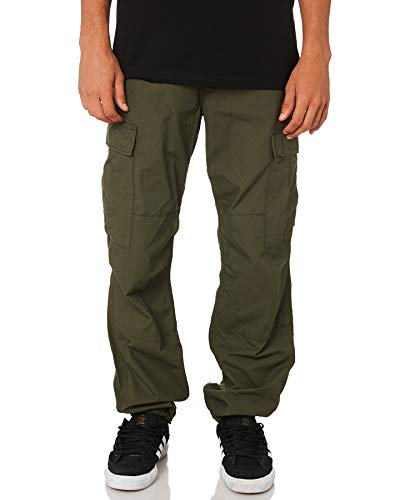 Carhartt Herren Regular Cargo Pant Jeans, Grün (Cypress Rinsed), 34