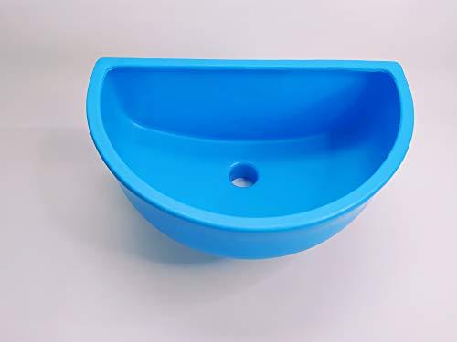 Waschbecken Blau, Ausgussbecken, Spülbecken Kunstoff für Garten, Keller inkl. Abflusssieb-Haarsieb aus Kunststoff