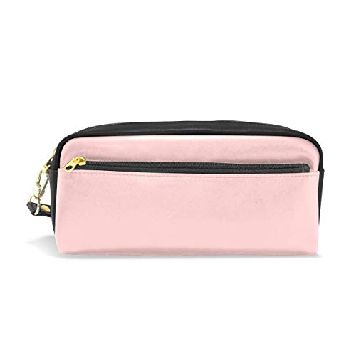 Lawenp Large Capacity Pencil Case and PU Leather Pen Bag Come Fly With Zipper Stationery Supplies Pencil Pouch Comestic Makeup Bag for Girls and BoysLarge Capacity Pencil Case and PU Leather Pen Bag