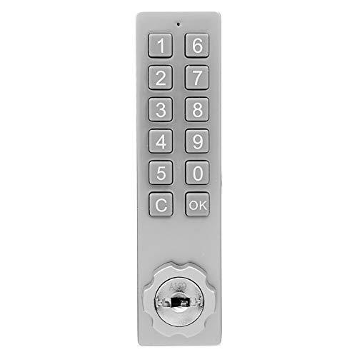 Cerradura de gabinete con Teclado, contraseña de Seguridad de aleación de Zinc, desbloqueo de Llave con Accesorio de Montaje, Cerradura de combinación mecánica, Herramienta de Entrada sin Llave