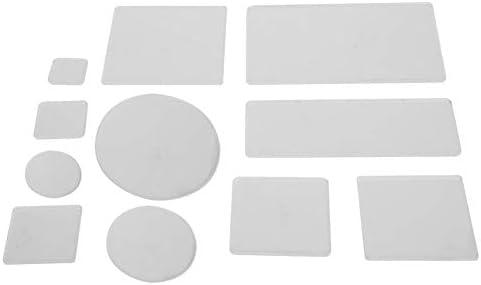 Stempelkussen helder acrylblok goede hardheid transparant voor ambachtelijke plakboekpaginasRound corner set