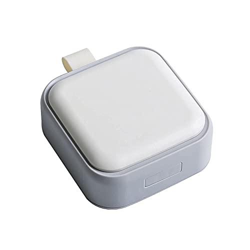 Timertick Pillendoosje met 4 Vakken,Draagbare Reismedicijn Medicijndoos,Plastic Medicijn Tabletdoos met Ring (wit)