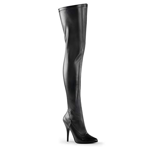 Higher-Heels PleaserUSA Overknee-Stiefel Seduce-3000 Mattschwarz Gr.39