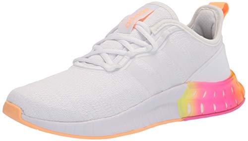 adidas Women's Kaptir Super Running Shoes, White/White/Acid Orange, 8
