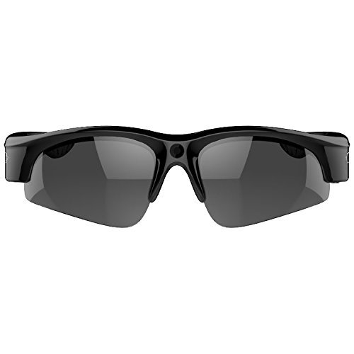 72ebecb000be Camera on Glasses - 1080P Video Sunglasses with Camera | Wide Angle View,  UV Protection