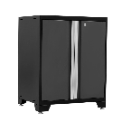NewAge Products Pro 3 Series 37 in. H x 28 in. W x 22 in. D 18-Gauge Welded Steel 2-Door Base Cabinet in Gray-52002 - The Home Depot