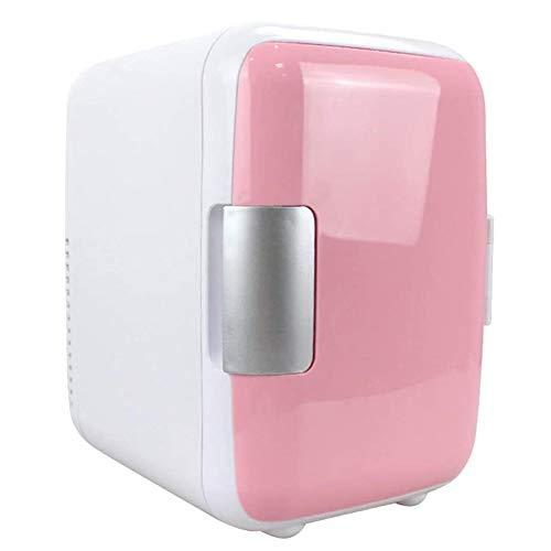 Dongbin Mini 6L Kühlschrank Makeup Kühlschränke Dual-Use Für Auto-Weiss- Kühlschrank Kühlschränke Dual-Use Für Heim-Studentenwohnheim,Rosa