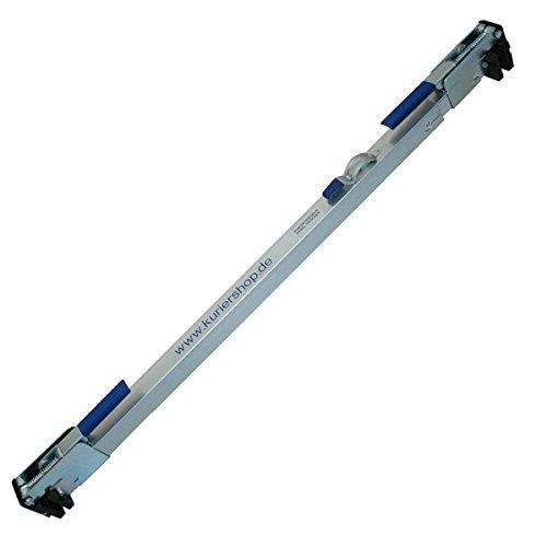 kuriershop Zwischenwandverschluss, verstellbar 1,14m - 2,71m, Stahl, glanzverzinkt, 3-Röhren-System