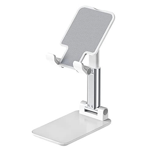 PPuujia Tablet Soporte de Mesa de Mesa de Mesa de Mesa de Mesa Ajustable Soporte de teléfono móvil con Mesa de Soporte extendido (Color : White)