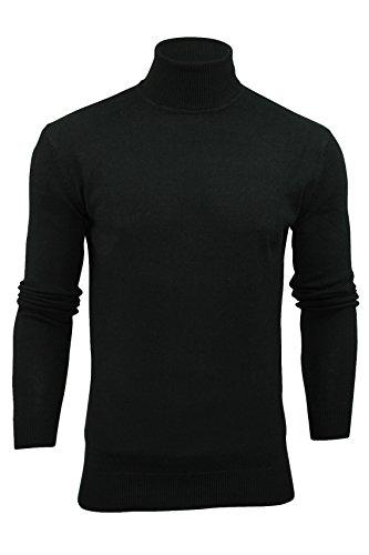 Brave Soul Hume Lupetto da uomo, in cotone lavorato a maglia Nero XL
