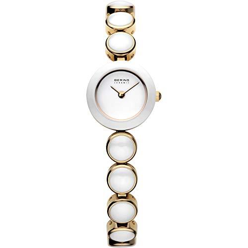 BERING Damen Analog Quarz Ceramic Collection Armbanduhr mit Edelstahl/Keramik Armband und Saphirglas 33220-751