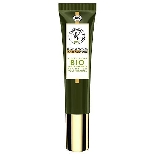 La Provençale – Le Soin de Jouvence Anti-Âge Yeux – Soin Yeux Certifié Bio – Huile d'Olive Bio AOC Provence – Pour Tous Types de Peaux, Même Sensibles – 15 ml