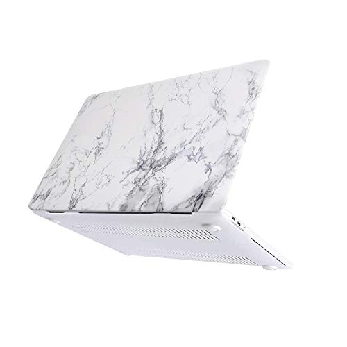 MOSISO Funda Dura Compatible con MacBook Pro 13 USB-C A2338/A2289/A2251/A2159/A1989/A1706/A1708,Ultra Delgado Carcasa Rígida Protector de Patrón de Plástico Cubierta,Mármol Blanco