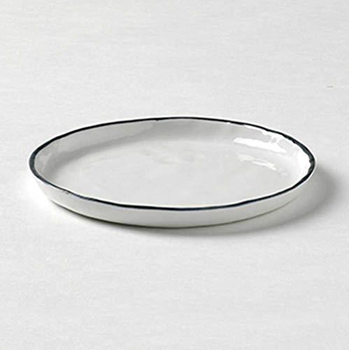 Lambert - Piana - Teller - Ø: 13,5 cm - Weiß mit Basaltgrauem Rand - 1 Stück