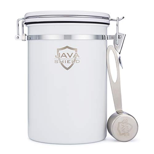 Java Shield White Coffee Container –...