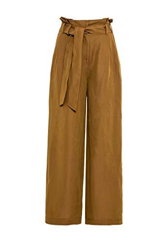 HALLHUBER Paperbag-Hose mit Leinen weit geschnitten Muskat, 34